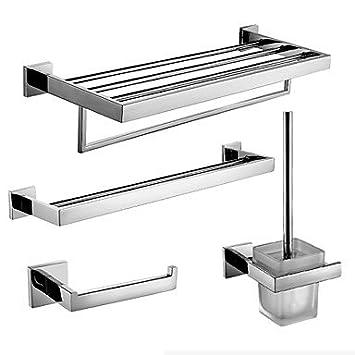 ZYT Set de Accesorios de Baño / Barra para Toalla / Soporte para Papel Higiénico / Soporte para Cepillo de Baño / Calentador de Toallas /: Amazon.es: Hogar