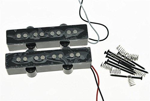 60s Jazz Bass Pickup (KAISH Black Alnico 5 J Bass Pickups Set 60s Vintage Sound 4 String Jazz Bass Pickup)