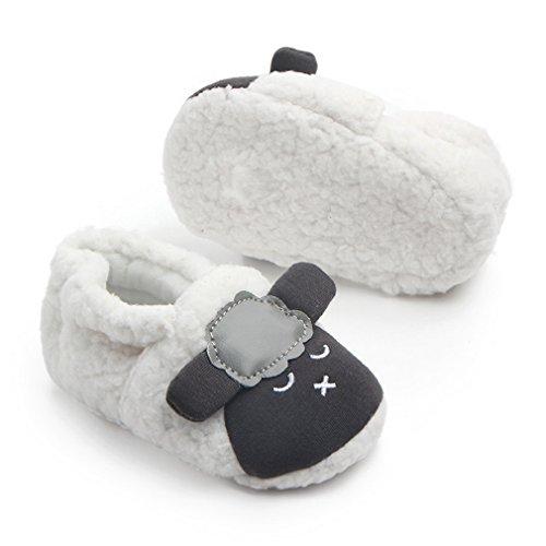 COMVIP Baby Cartoon Sheep Step Toddler Shoes Fleece Warm Slipper