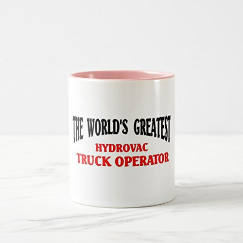 Zazzle World's Greatest Hydrovac Operator Travel Mug, Pink Two-Tone Mug 11 oz