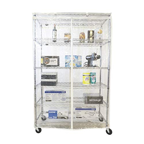 "Formosa Covers Storage Shelving Unit Cover All See Through PVC, fits Racks 60"" Wx24 Dx72 H All Clear PVC (Cover only)"