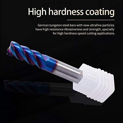 NO LOGO 1pc Schneiden HRC65 4 Flute Legierung Carbide Fräsen Wolframstahl Fräser Schaftfräser Metall-CNC-Fräser (Größe : 1x4Dx50L)