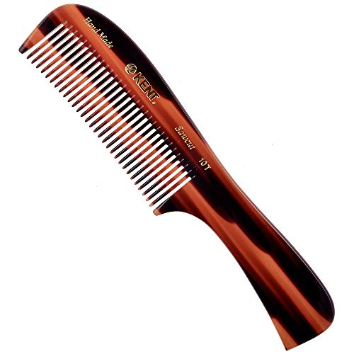 Kent 10T 8' Handmade Large Handle Rake Comb - Sawcut for Wet / Thick Hair