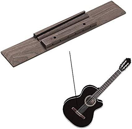 Puente para guitarra clásica de madera de palisandro de 180 x 30 x ...
