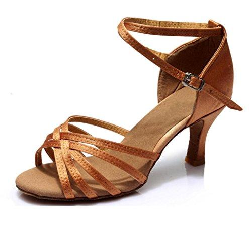 América Zapatos De Baile Zapatos De Baile Sólo Femenina Interior Suave Satén Inferior Profundidad a piel de 5 a 5 cm