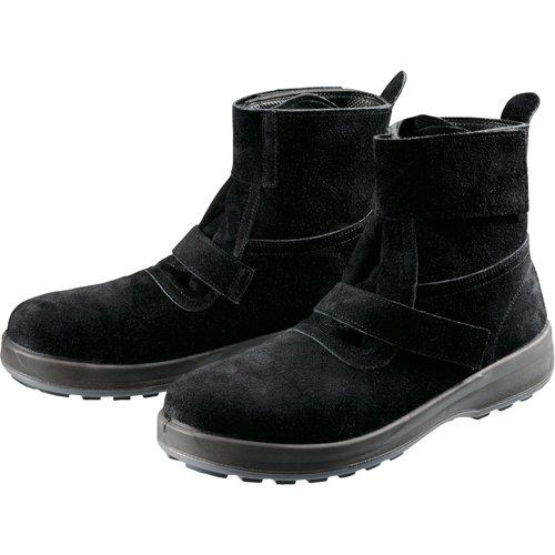 [シモン] 安全靴 中編上 WS28黒床 B01669SDZ2 25.5 cm 3E|ブラック