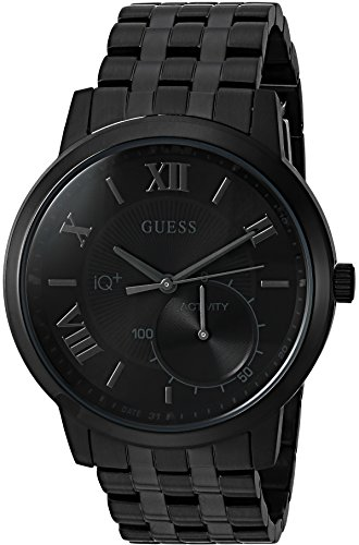 GUESS Men's 'Connect Fitness' Quartz Stainless Steel Casual Watch, Color:Black (Model: C2004G4)