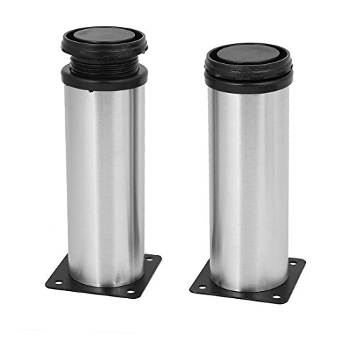 uxcell Bathroom Cabinet 50mm x 150mm Metal Adjustable Leg Feet Round Stand 2PCS by uxcell