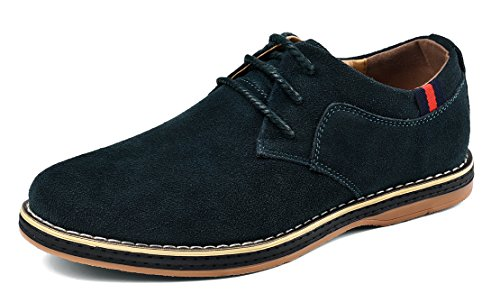 MOHEM Darren Men's Premium Genuine Suede Leather Lace-up Oxfords - Shoes Suede Genuine Leather