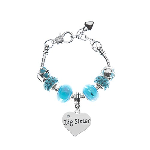 Infinity Collection Sister Bracelet -Sister Jewelry- Sister Charm Bracelet, Blue Big Sister Bracelet for Girls- Gift for Sisters