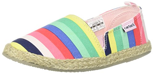 Carter's Girls' Ari Espadrille Slip-on Loafer Flat, Print, 9 M US Toddler