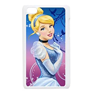 iPod Touch 4 Case White Disney Cinderella Character Cinderella GRP Cell Phone Protective Case