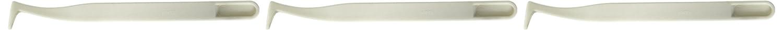 3 x Anti-Statik-Pinzette, Kunststoff, flach, gebogene Spitze Nagelzange, 12 cm, weiß Sourcingmap a14082500ux0006