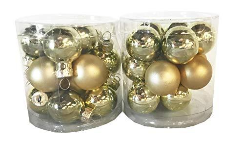 Silver Ball Ornament - Mini Shatterproof Ornaments - Various Counts - Pink, Blue, Green, Purple, Red, Gold, Silver - Balls, Bells, Finials - 1