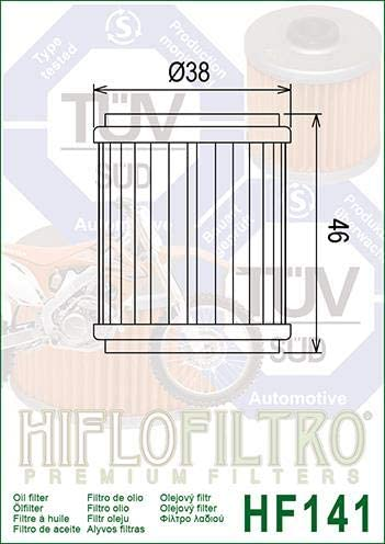 Hiflo Yamaha CZD300 A XMax 300 2017-2018 Oil Filter Genuine OE Quality HF141