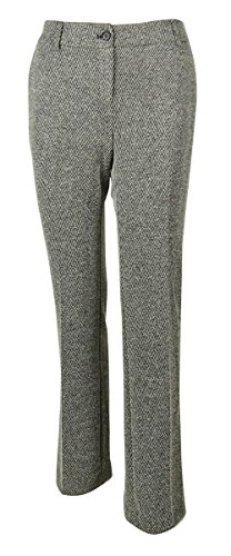 Jones New York Women's Textured Stripe Dress Pants (2, Charcoal Multi) (New York Striped Suit Jones)