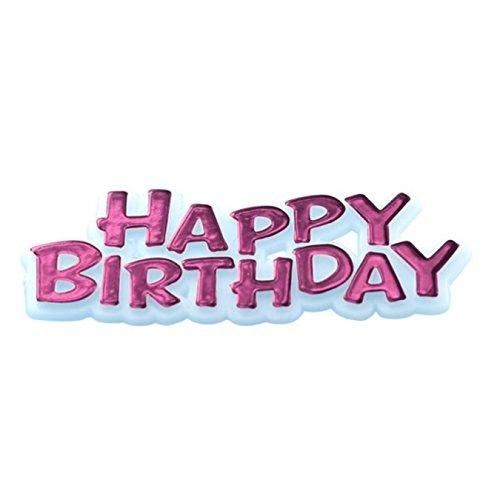 Creative Tortenaufsatz Schriftzug Happy Birthday (Einheitsgröße) (Pink)