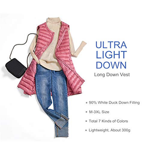 Donna Light Leggero Panciotto Antivento Autunno Maniche Hangyin Caldo Vest Khaki Ultra Senza Down Inverno Coat Lungo Femminile t8gxw4Yq