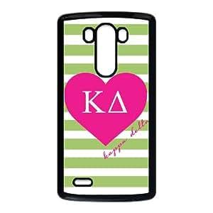 LG G3 Cell Phone Case Black Kappa Delta Green Stripes H8G4EF