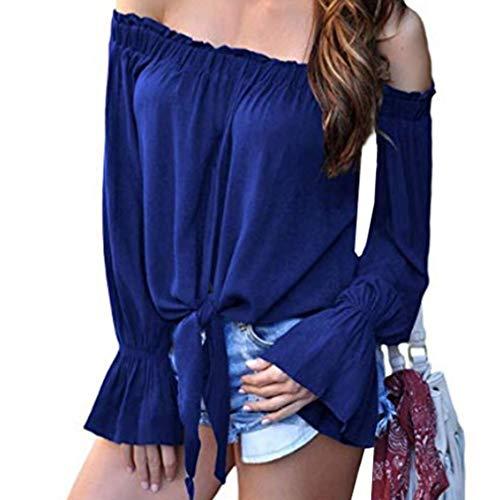 paules T 13 Chemise Manchon Collier Pure Soie Dnudes Mousseline Couleur Femmes Chemisier Rayures Shirt Cloche Bleu Mot t Un Styles p1AqIwxE