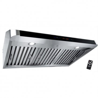 "AKDY AUR801A36 36"" Under Cabinet Range Hood with 900 CFM 65"