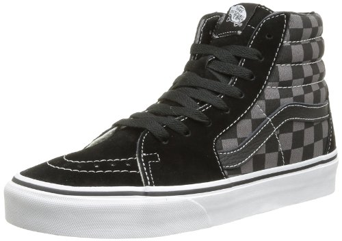 Vans Unisex Sk8-Hi Black/Pewter Checkerboard Skate Shoe 9.5 Men US / 11 Women US]()