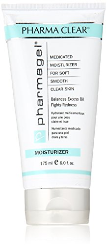 Pharmagel Pharma Clear Medicated Moisturizer | Face Moisturizer for Acne Prone Skin | Facial Lotion for Inflammation and Redness - 6 fl. oz.
