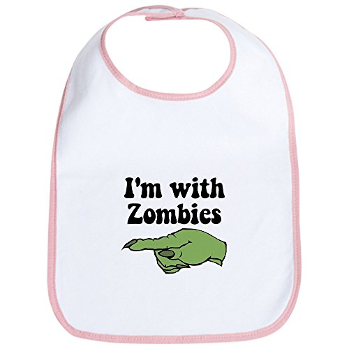 CafePress - I'm With Zombies Halloween Bib - Cute Cloth Baby Bib, Toddler (Halloween Zombie Quotes)