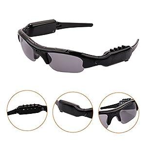 Giantree Sunglasses Hidden Camera Mini Camera Camcorder Sunglasses MP3 Player Support Micro SD Card