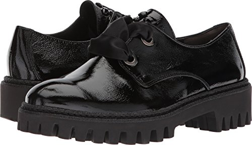Black Crinkled Patent Leather (Paul Green Women's Rory Lug Black Crinkled Patent 8 M US)