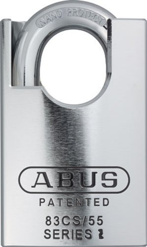 ABUS 83CS/55-300 S2 Schlage 55mm Rekeyable Padlock Solid Steel Chrome Plated Body, 1.4375-Inch Closed Shackle, Zero-Bitted by Abus Lock USA