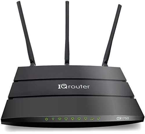 IQrouter - IQRV2 Self-Optimizing router with dual band WiFi (AC1750) adapts to your line for improved quality