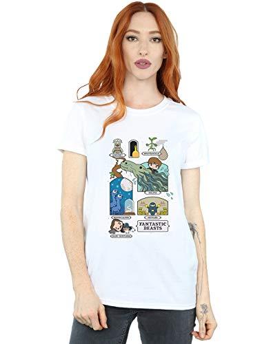 Ami Cult Newt Animali Femme fantastici Fit Blanc Petit 2 Chibi Maglietta Absolute F4xawAx