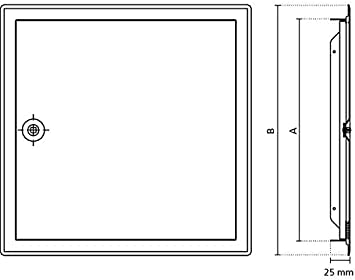 Upmann REVI Puerta Softline SV 250/x 250/mm RAL9016/cuadrado cierre 20525 1/pieza