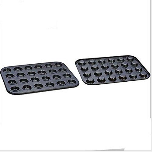 Tosnail 24er Mini-Muffinform * 2, Muffin-Backformen 35 x 25 cm