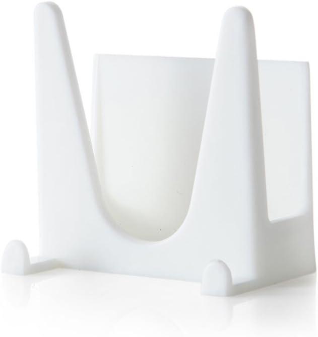 White, pack of 1 ❤Newdiva❤ Plastic Kitchen Pot Pan Cover Shell Cover Sucker Tool Bracket Storage Rack Pot Lid Rack Spoon Rests Pot Lid Holders Non-Slip Waterproof Durable Hanger Storage Rack