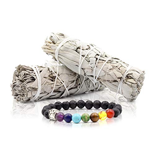 (JL Local White Sage Smudge Sticks Bundles Gift Set - California Sage - Smudging & Cleansing Wands (2 Bundles))