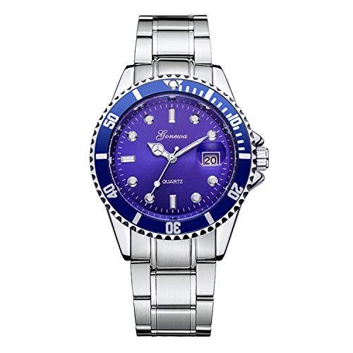 SUPERON Relogio Masculino Men Fashion Military Stainless Steel Date Men's Watch Relojes Sport Quartz Analog Wrist Hombre Horloge(Blue,1)