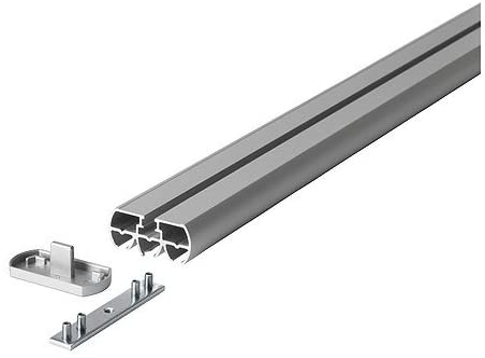 KVARTAL IKEA - Rieles para Cortinas (140 cm, 4 Unidades), Color Aluminio: Amazon.es: Hogar