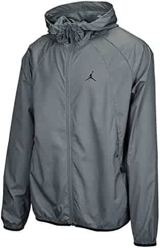 NIKE Men s Jordan Sportswear Wings Windbreaker Jacket Cool Grey Black a063995af