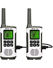 Retevis RT45 Walkie Talkie Rechargeable 22 Channels Flashlight NOAA Two Way Radios with AA Rechargeable Battery (1 Pair 2 Way Radios)