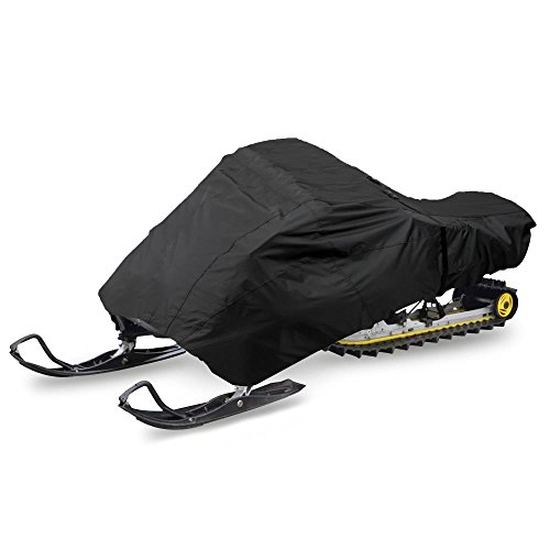 Pyle PCVSNM12 - Universal Snowmobile Cover Fabric - Heavy Duty, Dual Air Vents, Non-scratch Hood Liner & Elastic Cord -Tight Custom Fit, Waterproof Marine Grade Protection Against Sun Damage