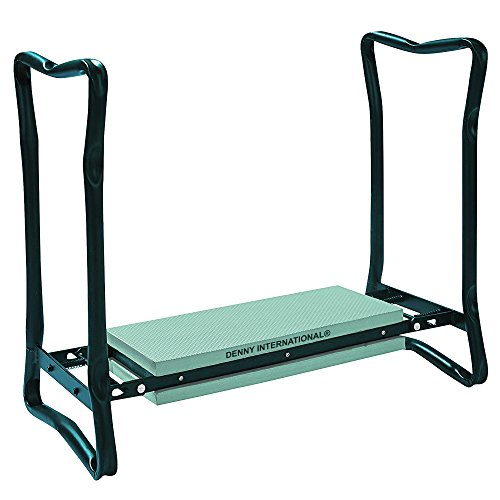 2 in 1 Folding Portable Garden Kneeler Padded Foam Chair Seat Stool - Heavy Duty Metal Construction