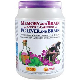 Memory & Brain with Acetyl L-Carnitine and PC Liver and Brain 60 Packets