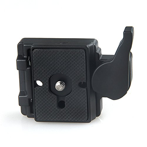 [Konsait Black Camera 323 Quick Release Plate with Special Adapter (200PL-14) use for Manfrotto 323(New Version)] (Quick Release Slip)