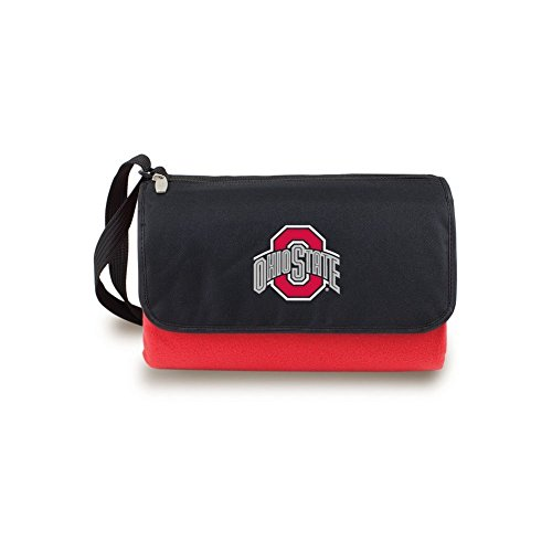 eyes Outdoor Picnic Blanket Tote, Red ()