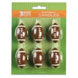 6ct - Football Cake Candles
