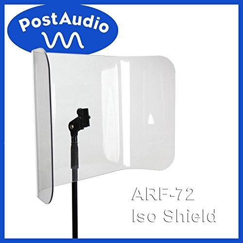 Post Audio ARF-72 NEW Acrylic Isolation Shield - Mounts On Standard Mic Stand