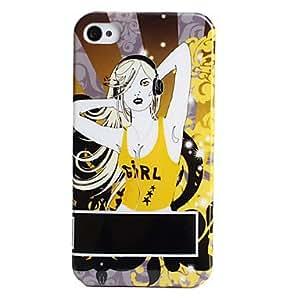 comprar Chica de moda de estilo de protección para el iPhone 4 y 4S (amarillo)