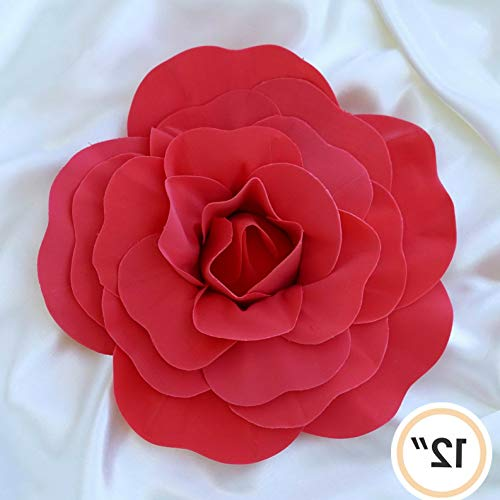Mikash Artificial Large Roses Flowers for Wall Backdrop Wedding Party Home Decorations   Model WDDNGDCRTN - 9694   24 pcs]()